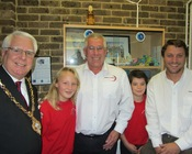 Mayor of Gosport John Beavis, Race Director Josh Hall and Gosport-based offshore sailor David Thomson