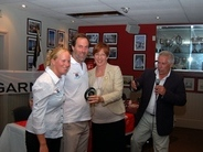 Leg 2 prize giving at the Royal Port Nicholson Yacht Club